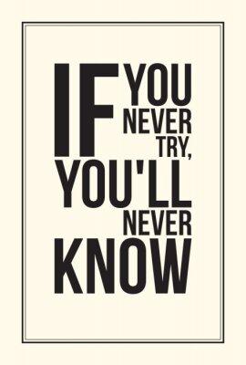 Fototapeta Inspiracja motywacja plakat. Czarno-biały