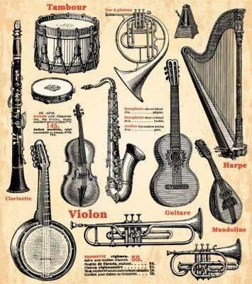 Fototapeta Instruments de Musique
