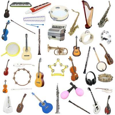 Modne ubrania Fototapeta Instrumenty muzyczne na wymiar • złoto, nowoczesny FK81