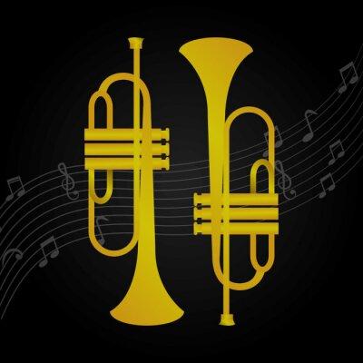Fototapeta Instrumenty muzyczne projektu.
