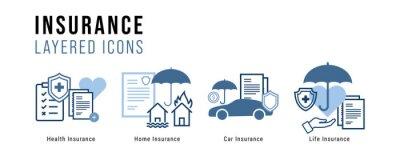 Fototapeta Insurance Layered Icon Set