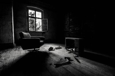 Fototapeta Interior Of Abandoned House