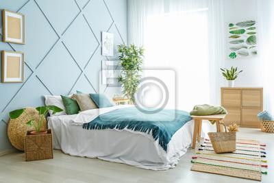 Fototapeta Interior of beautiful modern bedroom