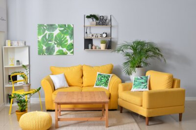 Fototapeta Interior of stylish living room