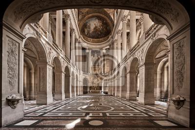 Fototapeta interior of the cathedral of paris