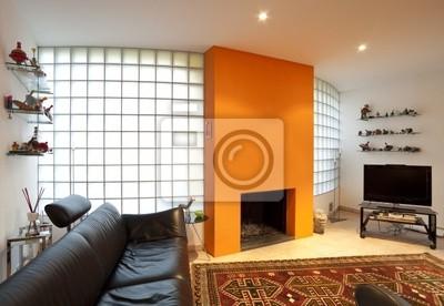 Fototapeta interno di casa moderna ammobiliata na wymiar miejsce ciana szk o - Casa ammobiliata ...