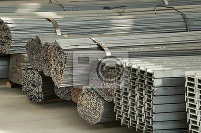 Fototapeta iron and steel material storage