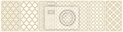 Fototapeta Islamic seamless pattern with arabic and islamic ornament big set