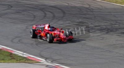 Fototapeta ISTANBUL, TURKEY - OCTOBER 25, 2014: F1 Car in F1 Clienti during Ferrari Racing Days in Istanbul Park Racing Circuit