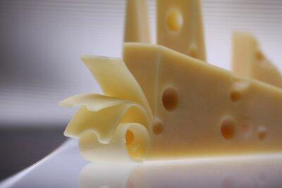 Izolowane kawał sera