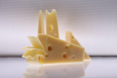 Fototapeta Izolowane kawał sera