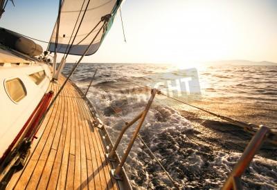 Fototapeta Jacht, regaty żeglarskie.