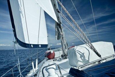 Fototapeta Jachty na widok pokładu rejsu