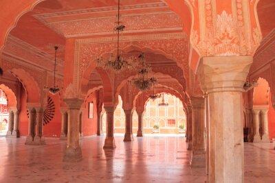 Fototapeta Jaipur,India,9,2007;Jaipur Palace is a place of exaltation of the splendorous past of the pink city