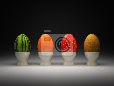 Fototapeta jaj, owoców