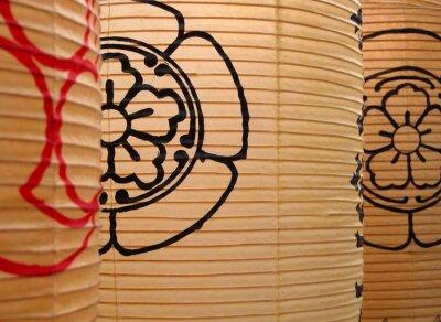 Fototapeta japońskie papierowe latarnie