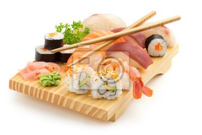 Fototapeta japońskie sushi płyta