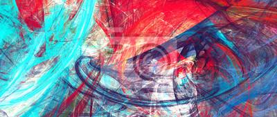 Jasne artystyczne plamy. Abstrakcjonistyczna obraz koloru tekstura. Nowoczesny wzór futurystyczny. Dynamiczne jasne tło wielokolorowe. Fraktalna grafika do kreatywnego projektowania graficznego