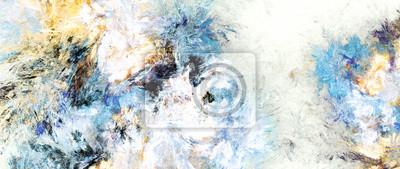 Jasne artystyczne plamy. Abstrakcjonistyczna obraz koloru tekstura. Nowoczesny wzór futurystyczny. Multicolor dynamiczne tło. Fraktalna grafika do kreatywnego projektowania graficznego