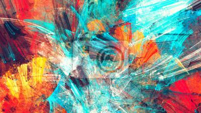 Jasne artystyczne plamy. Malarstwo abstrakcyjne tekstury kolorów. Nowoczesny futurystyczny wzór. Multicolor dynamiczne tło. Fraktalna grafika do kreatywnego projektowania graficznego