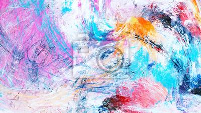 Jasne artystyczne plamy. Malarstwo abstrakcyjne tekstury kolorów. Nowoczesny futurystyczny wzór zimy. Multicolor dynamiczne tło. Fraktalna grafika do kreatywnego projektowania graficznego.