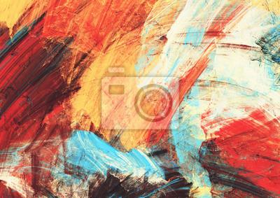 Jasne artystyczne plamy na białym tle. Malarstwo abstrakcyjne tekstury kolorów. Nowoczesny futurystyczny wzór. Multicolor dynamiczne tło. Fraktalna grafika do kreatywnego projektowania graficznego.