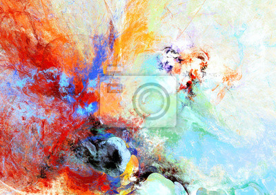 Jasne plamy artystyczne. Abstrakcyjne malowanie koloru tekstury. Nowoczesny futurystyczny wzór. Multicolor dynamiczne t? O.