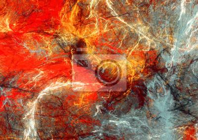 Jasne plamy artystyczne. Abstrakcyjne malowanie koloru tekstury. Nowoczesny futurystyczny wzór. Multicolor dynamiczne t? O. Fraktalna grafika dla kreatywnego projektowania graficznego
