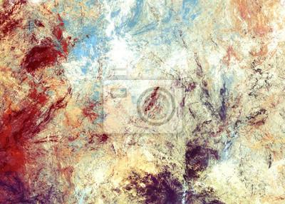 Jasne plamy artystyczne. Abstrakcyjne malowanie koloru tekstury. Nowoczesny futurystyczny wzór. Multicolor dynamiczne t? O. Fraktalna grafika do kreatywnego projektowania graficznego