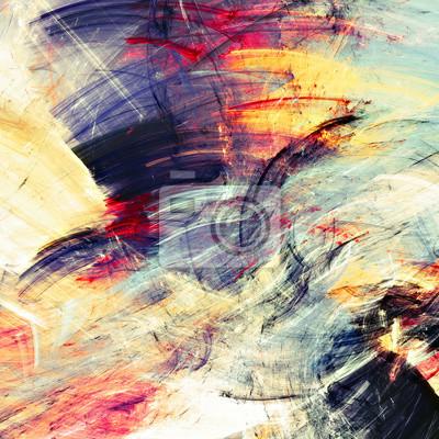 Jasne plamy artystyczne. Abstrakcyjne malowanie koloru tekstury. Nowoczesny futurystyczny wzór multicolor ruchu. Multicolor dynamiczne t? O. Fraktalna grafika do kreatywnego projektowania graficznego