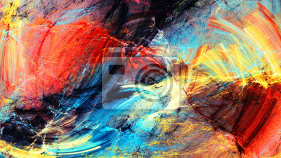 Jasne plamy artystyczne. Abstrakcyjne malowanie ruchu koloru tekstury. Nowoczesny futurystyczny wzór. Tła wirować wielokolorowe. Fraktalna grafika dla kreatywnego projektowania graficznego
