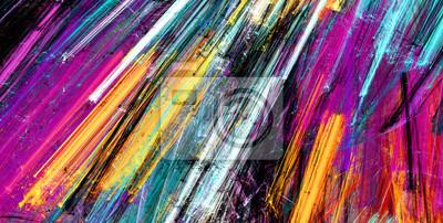 Jasne plamy artystyczne. Malarstwo abstrakcyjne kolor tekstury. Nowoczesny futurystyczny wzór. Dynamiczne tło wielokolorowe. Fraktalna grafika do kreatywnego projektowania graficznego