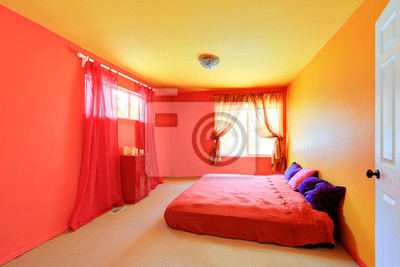 Jasne żywe Kolory Wnętrza Sypialni Fototapety Redro