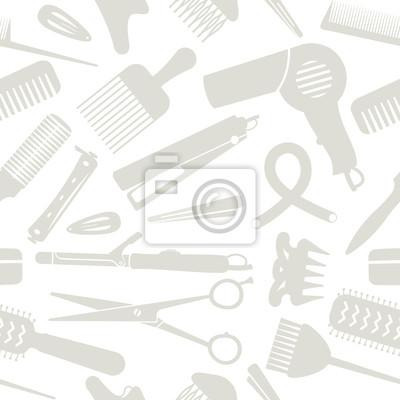 Jasnoszary stylizacji włosów związane bezszwowe tło