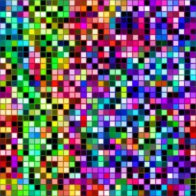 Fototapeta jasny kolorowy wzór kostki