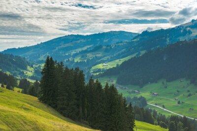 Fototapeta Jazda na gondoli do Rinderberg