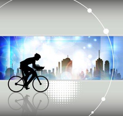 Fototapeta Jazda na rowerze. Ilustracji wektorowych