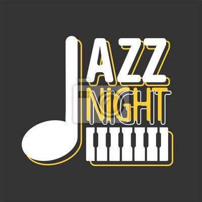 Jazz Nocy Plakat Muzyczny Szablon Wektora Fototapety Redro