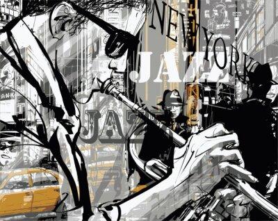 Jazzowy trębacz na ulicy w Nowym Jorku