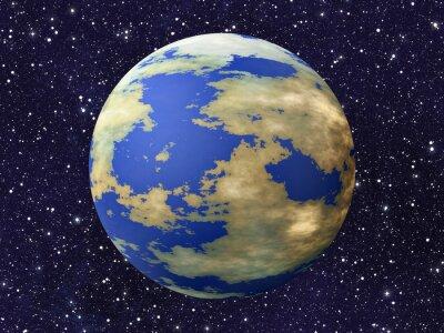 Fototapeta jedna Ziemia planeta od wielu kosmosu gwiazdy tła