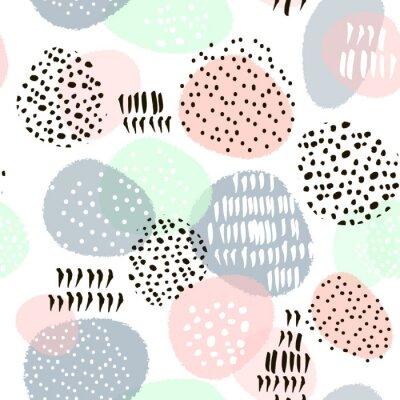 0d73663ea56b3f Fototapeta Jednolite abstrakcyjny wzór z ręcznie rysowane kształty i  elementy. Wektor modne tekstury