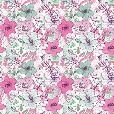 Fototapeta Jednolite kwiatowy wzór