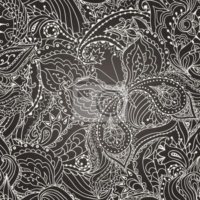 Jednolite kwiatowy wzór paisley