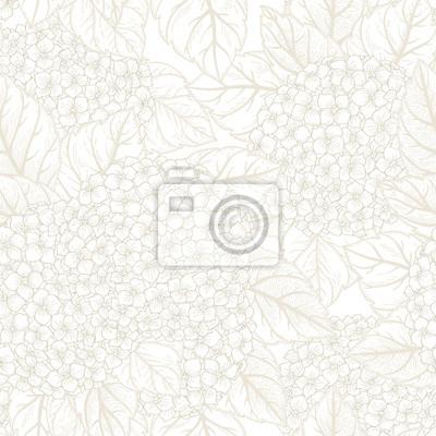 Jednolite kwiatowy wzór z hortensji