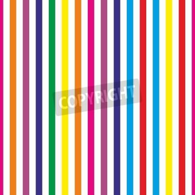 Fototapeta Jednolite tło wektor paski wzór tapety pulpitu lub z kolorowych żółty, czerwony, różowy, zielony, niebieski, pomarańczowy i fioletowe paski dla dzieci strony tle