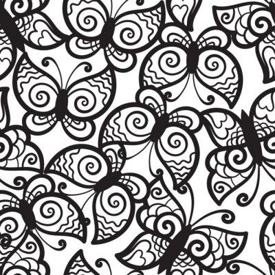 Fototapeta Jednolite tło z motyli