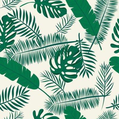 Fototapeta Jednolite tropikalny wzór