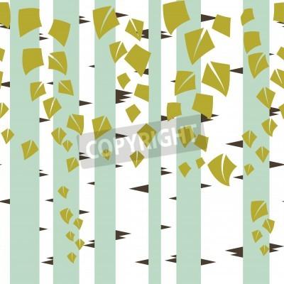 Fototapeta Jednolite wektora tekstury z zielonych drzew brzozy