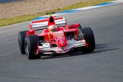Fototapeta Jerez de la Frontera, Hiszpania - 10 października: Luca Badoer Scuderia Ferrari F1 w dniu 10 października 2006 r sesji szkoleniowej w Jerez de la Frontera, Hiszpania