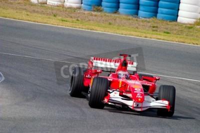 Fototapeta Jerez de la Frontera, Hiszpania - 10 października: Marc Gene Scuderia Ferrari F1 w wyścigach na sesji szkoleniowej w dniu 10 października 2006 roku w Jerez de la Frontera, Hiszpania